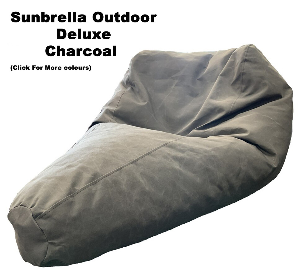 Sunbrella Outdoor Deluxe Size Bean Bag In Assorted Colours.