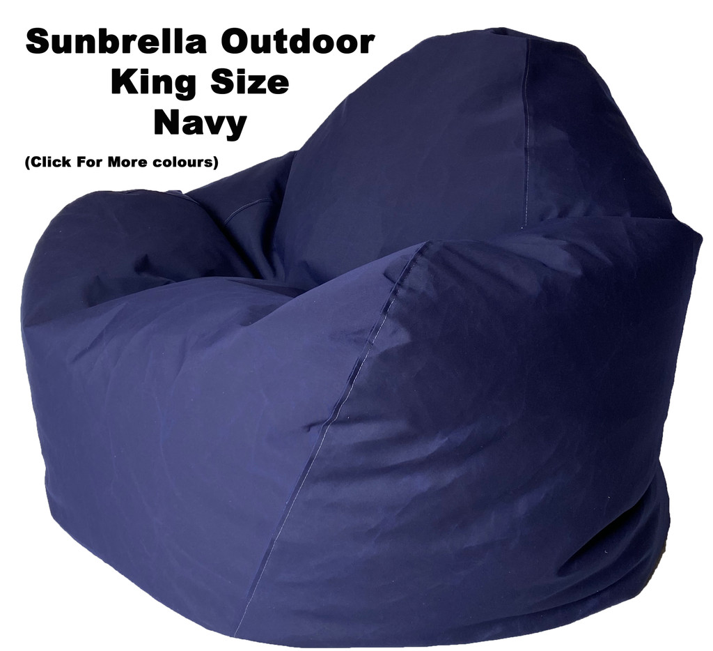 Sunbrella Outdoor Navy King Size Bean Bag In Assorted Colours.