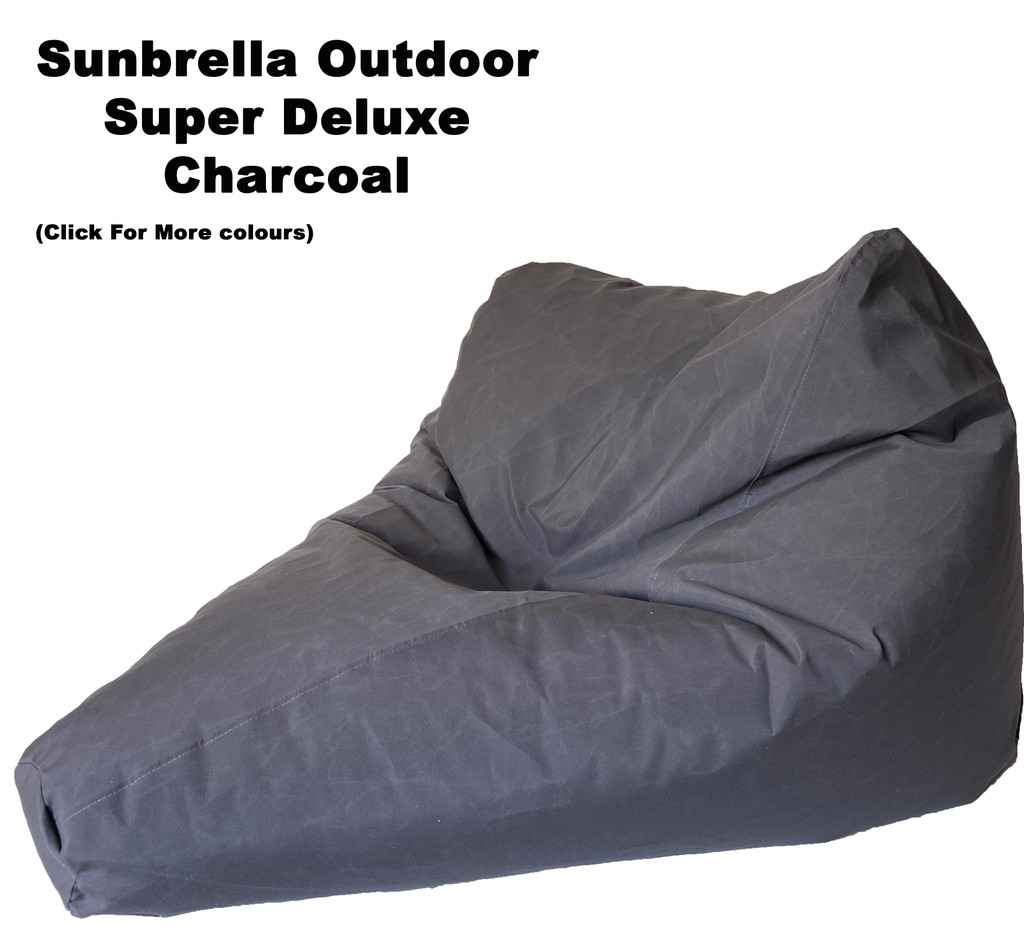 Sunbrella Outdoor Super Deluxe Size Bean Bag In Assorted Colours.