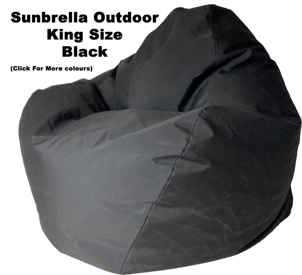 Sunbrella Outdoor Black King Size Bean Bag In Assorted Colours.