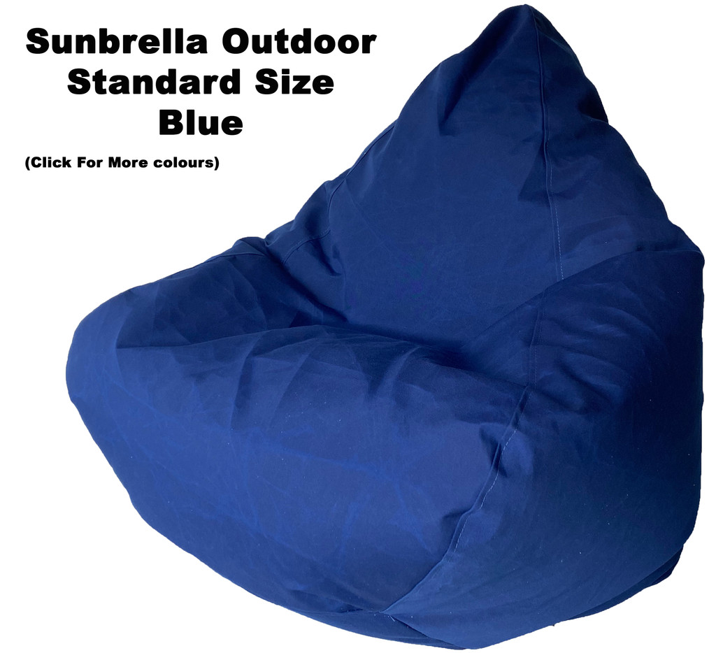 Sunbrella Outdoor Blue Standard Size Bean Bag In Assorted Colours