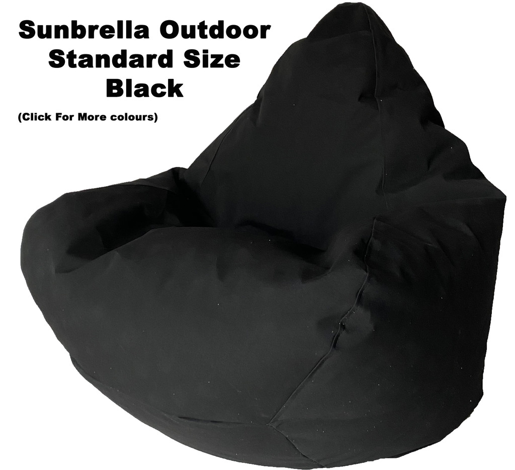 Sunbrella Outdoor Black Standard Size Bean Bag In Assorted Colours