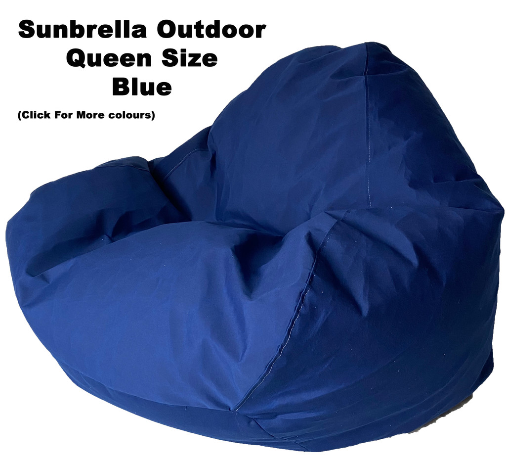 Sunbrella Outdoor Blue Queen Size Bean Bag In Assorted Colours.