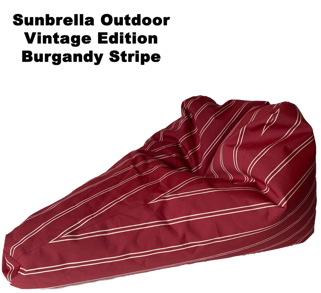 Sunbrella Outdoor Deluxe Vintage Edition Bean Bag In Burgandy