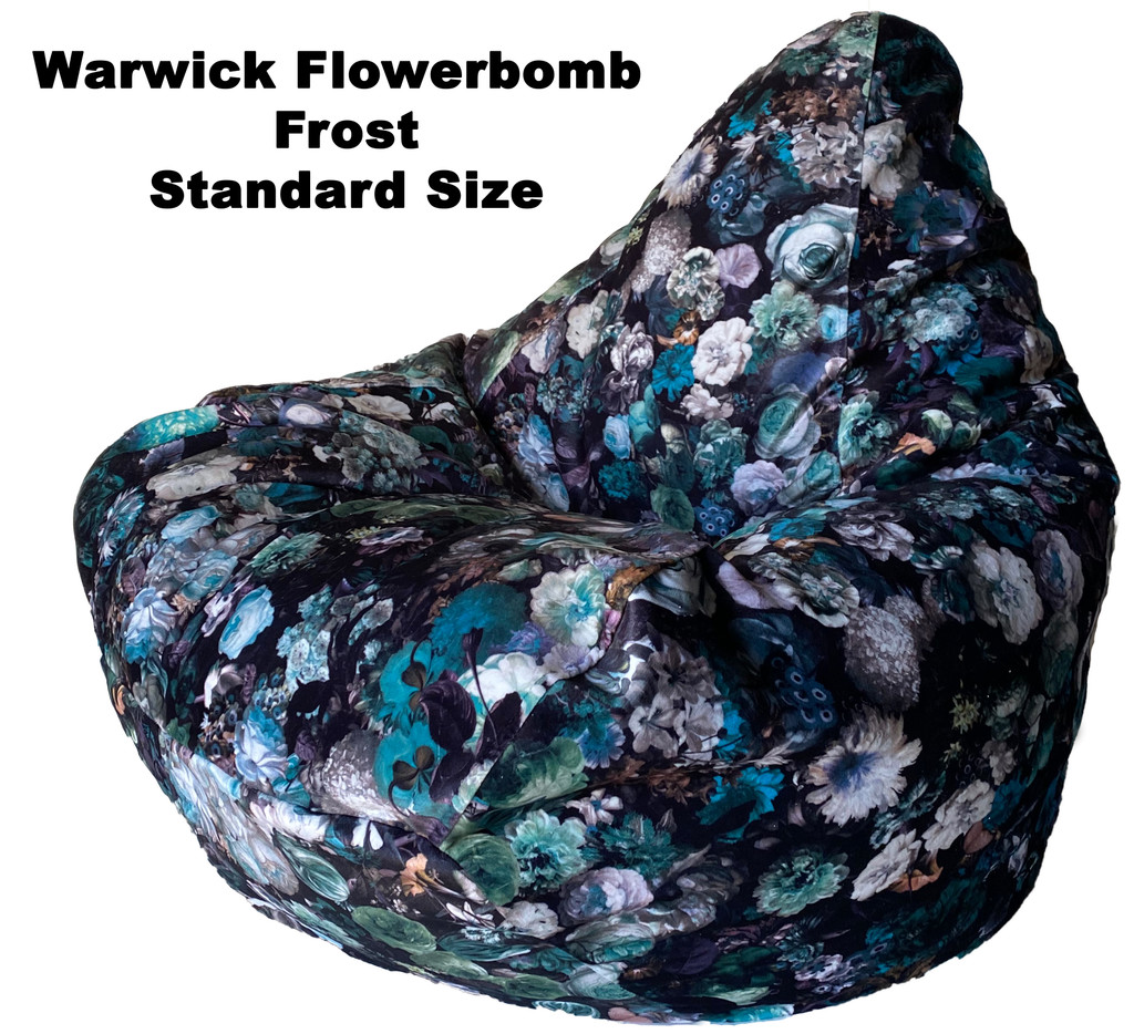 Warwick Flowerbomb Standard Size Bean Bag in assorted colours