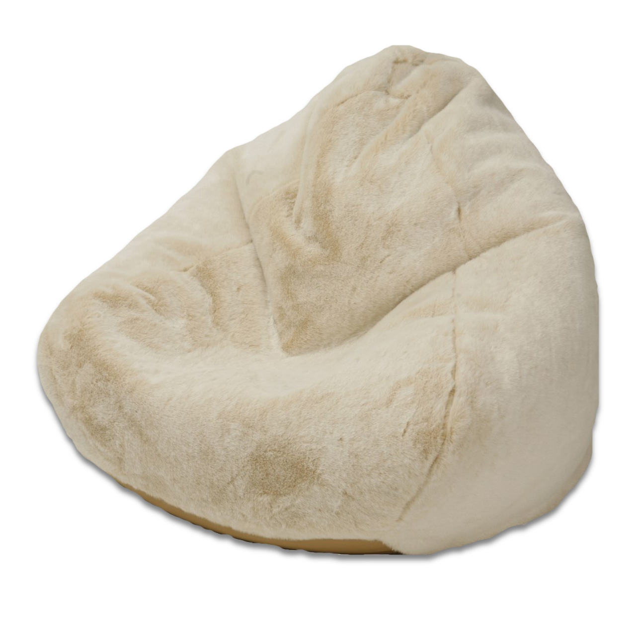 Faux Fur Queen Size Bean Bag in polar