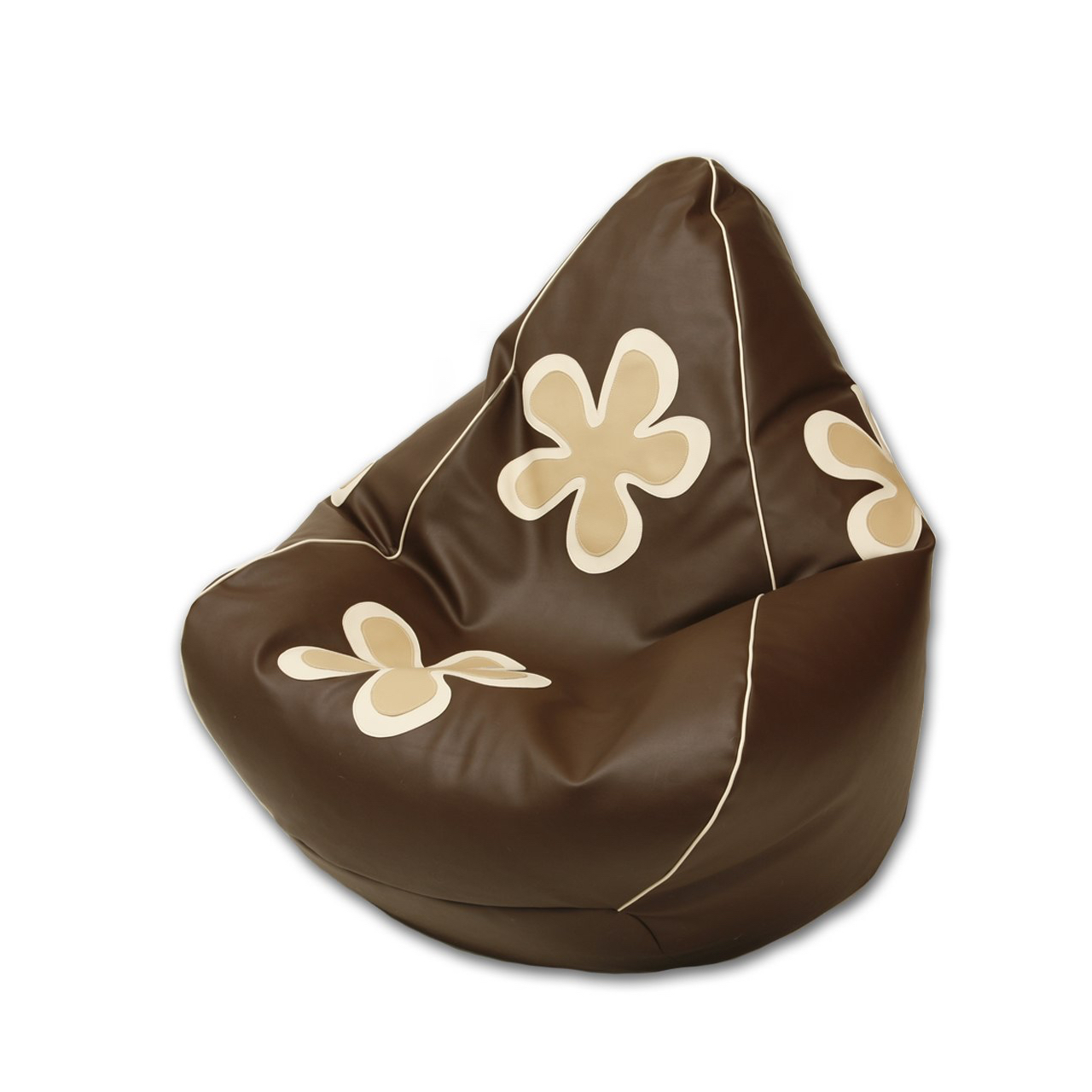 Frangipani Bean Bag in chocolate