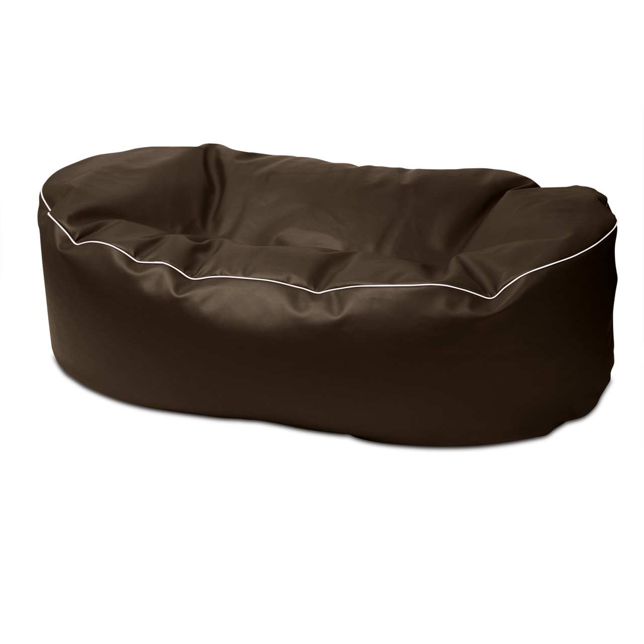 Retro 2m Couch in chocolate