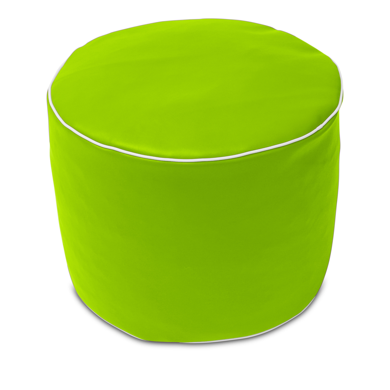 Retro Poof in lime