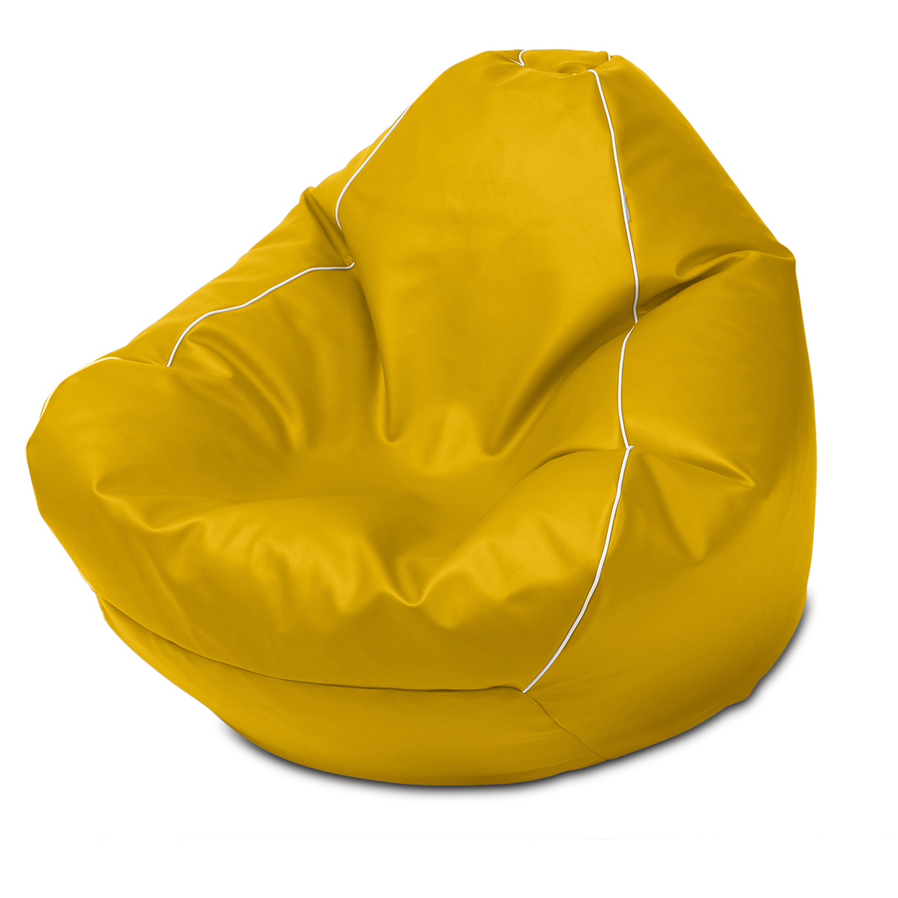 Retro Queen Size Bean Bag in canary