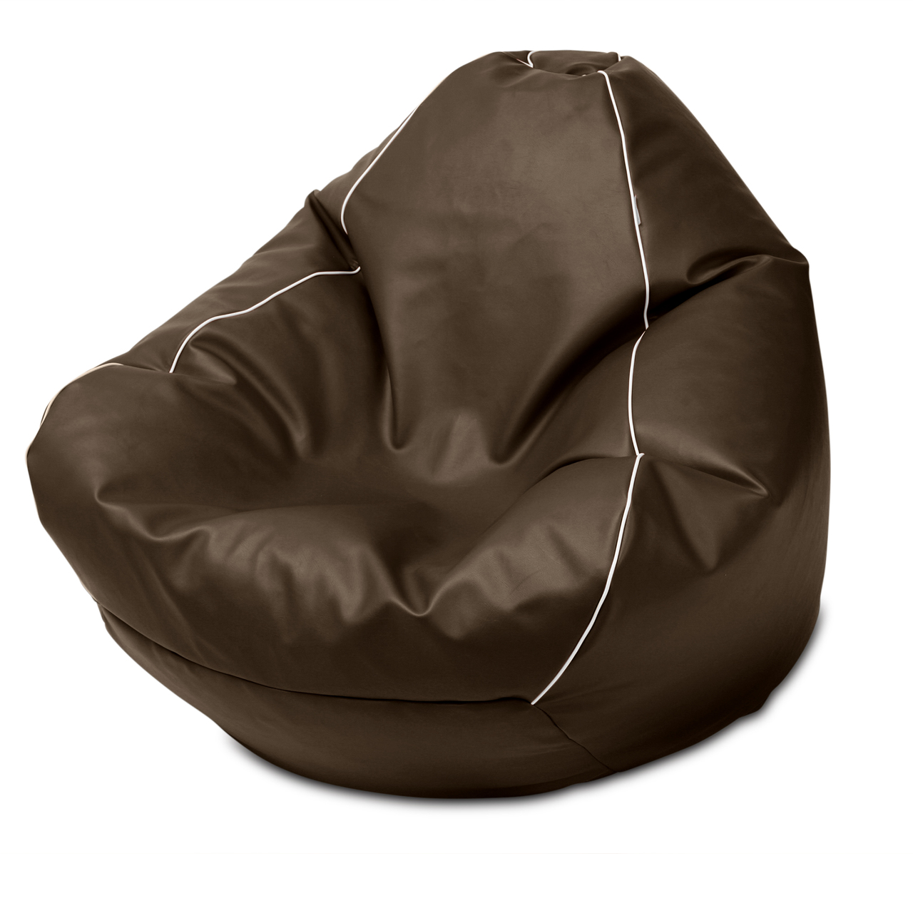 Retro Queen Size Bean Bag in chocolate