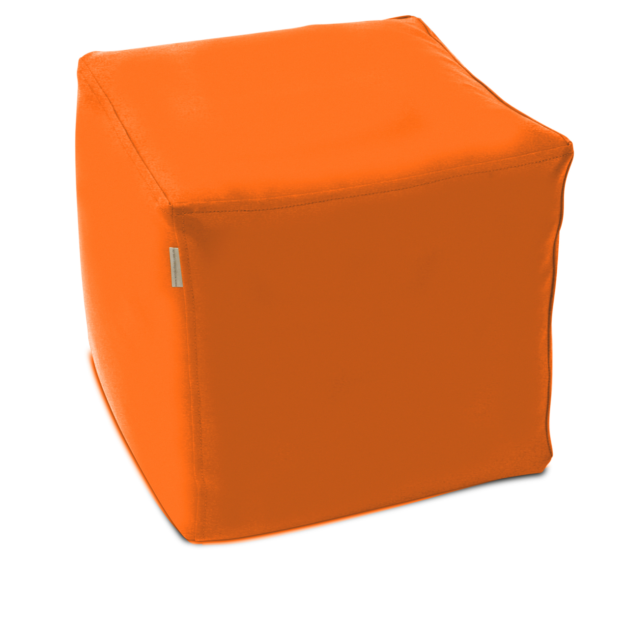 Classic Cube Poof in orange