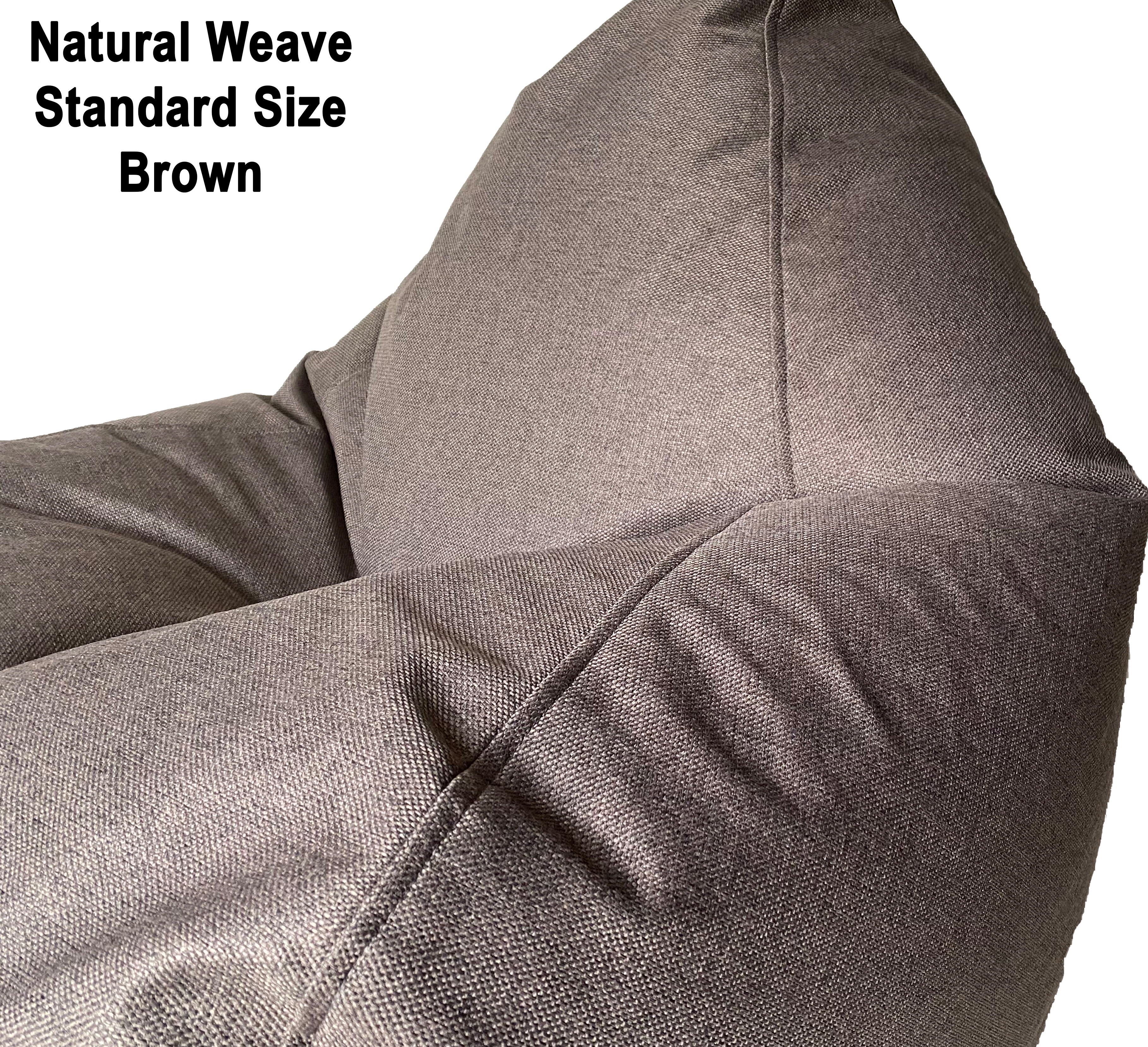 Brown Natural Weave Standard Size
