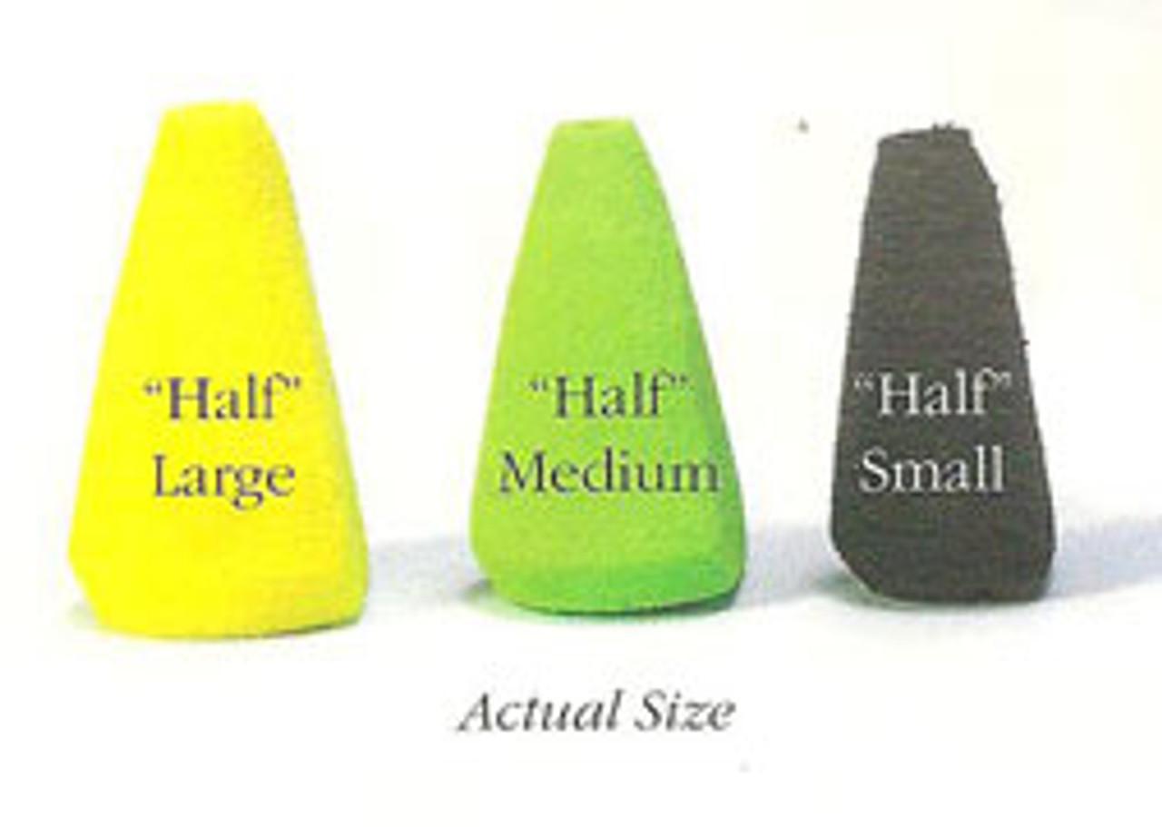 Rainy's Half Cone Foam Popper Bodies - 6/Pack