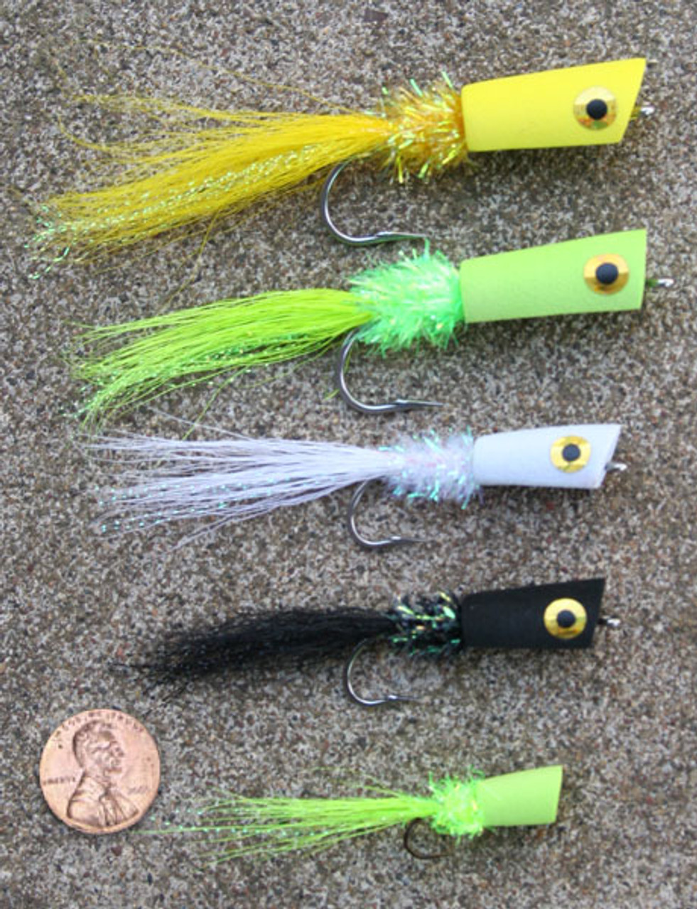 Lefty's Bass Popping Bug - Finished Flies - S/M 12/pack | Lg 6/pack