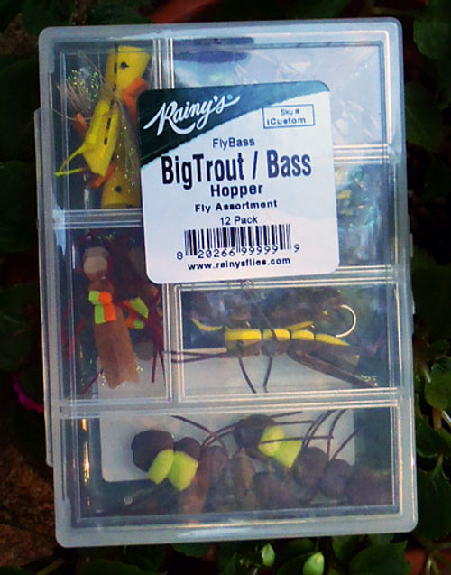 FlyBass Big Trout/Bass Hopper Assortment