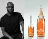 MOET & CHANDON CHAMPAGNE NECTAR IMPERIAL ROSE VIRGIL ABLOB LIMITED EDITION