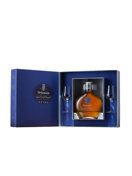DELAMAIN EXTRA COGNAC DECANTER GIFT SET 750ML