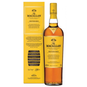 Macallan scotch single malt 3 edition 750ml