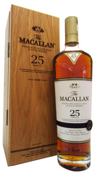 Macallan scotch single malt sherry cask 25yr old 750ml