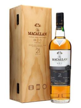 Macallan scotch single malt fine oak 21yr old 750ml