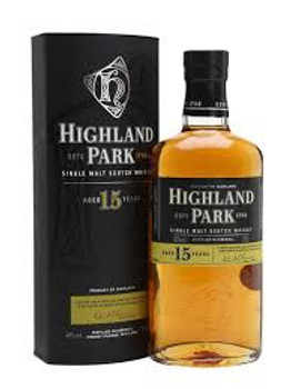 Highland park scotch single malt 15yr old 750ml