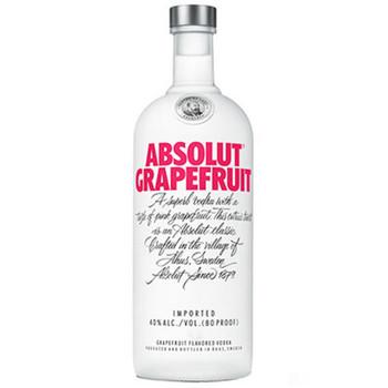 Absolut vodka grapefruit flavored Sweeden 750ml