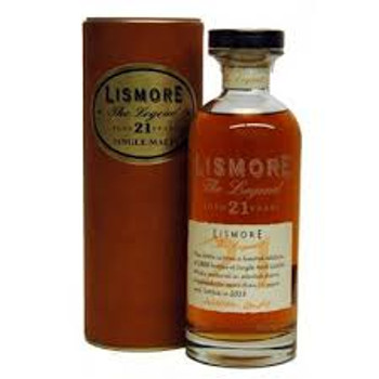 Lismore scotch single malt the legend 21yr old 750ml
