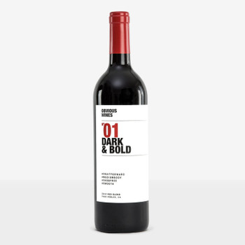 Obvious wines dark&bold N01 red blend 2016vt 750ml