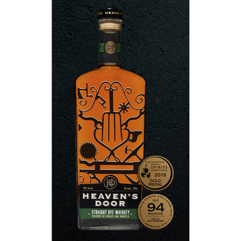 Heaven's door straight rye whisky finished in vosges oak barrels Tennessee 92pf 750ml