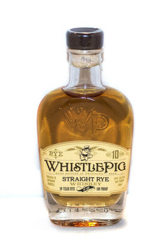 WhistlePig whisky straight rye 100pf 10yr old 50ml
