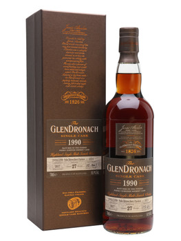 GlenDronach scotch single cask matured 1990 distilled 27yr old 750ml