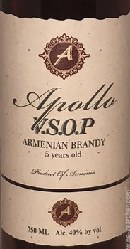 Apollo Armenian Brandy VSOP 5yr 750ml