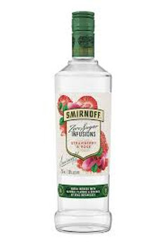Smirnoff Infusions Strawberry&Rose Zero Sugar 750ml