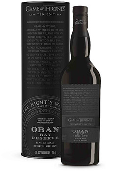 Game Of Thrones Oban Single Malt Scotch Whisky The Night's Watch Limited edition 750ml