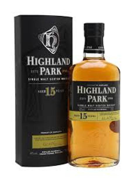 Highland park scotch single malt 15yr old 750ml