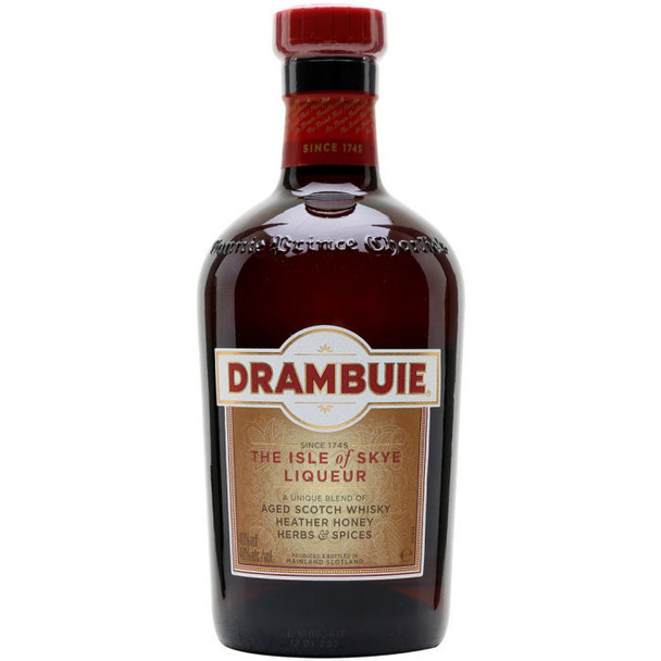 Drambuie The Isle of Skye Liqueur Aged Scotch Whisky Heather Honey Herbs and Spices 750ml