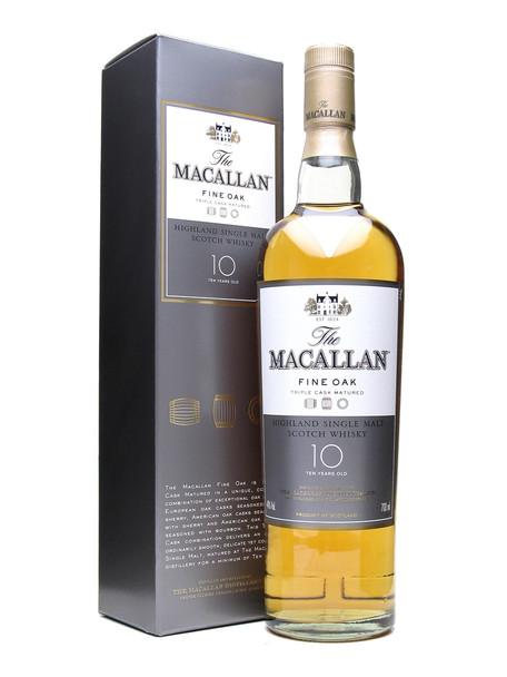 Macallan Highland Single Malt Scotch Whisky 10 YR 750ml