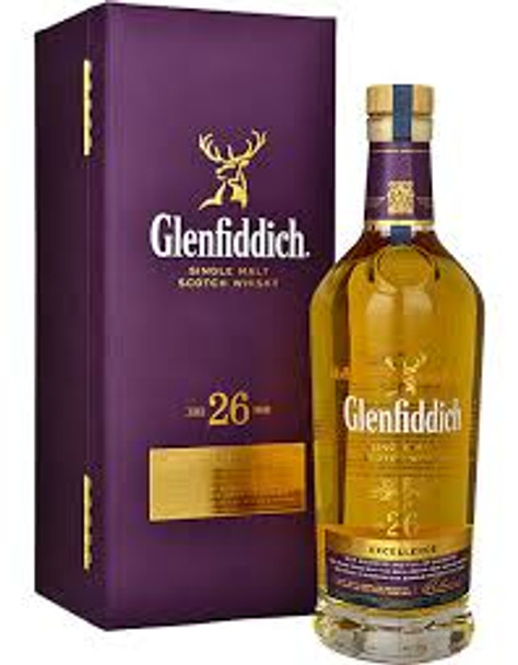Glenfiddich Single Malt Scotch Whisky Excellece 26 YR 750ml