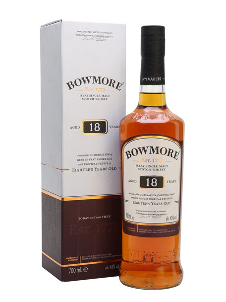 Bowmore Islay Single Malt Scotch Whisky 18 YR 750ml