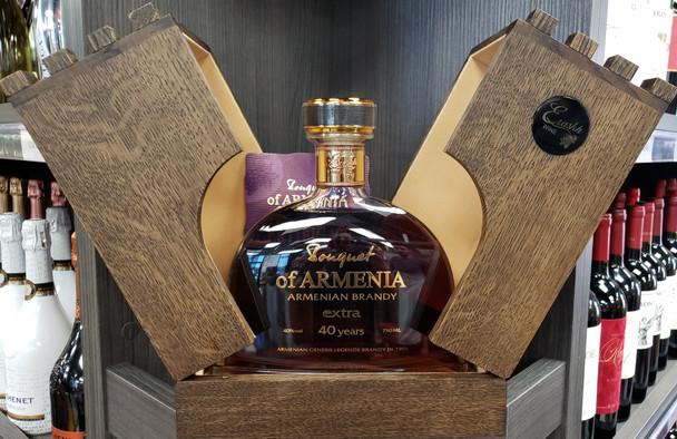 Bouquet Of Armenia Extra Armenian Brandy Wood Box 40yr 750ml