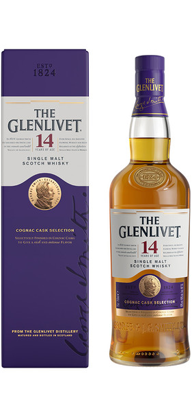 Glenlivet Single Malt Scotch Whisky Cognac Cask Selection 14 yr 750ml