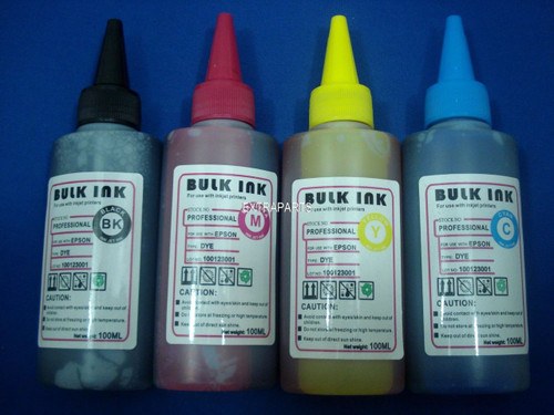 4x Dye Refill Ink Set for Epson 100ML T10/ T25/ T23/ T22/ S22/ T50/ R290/ R270