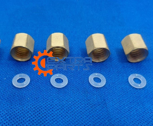 4x Copper thread O-ring for Epson 7600 9600 7800 7880 9800 9880 4800 4880 Small Damper