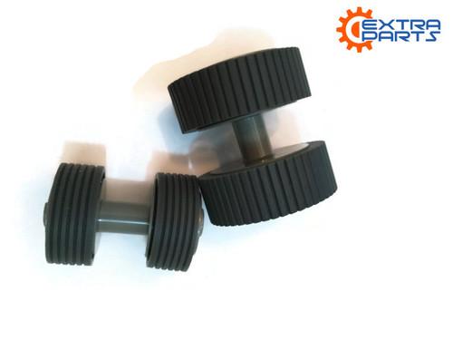 PA03540-0001 PA03540-0002 Fujitsu Scanner Brake and Pick Roller Set FI-6140 FI-6240 FI-6130 FI-6230 FI-6130Z - OEM REPLACEMENT