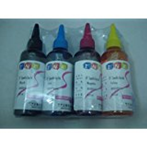4x 100ml Refill Dye Ink EPSON Workforce 630 633 635 840 845 WF-3520 3530 3540