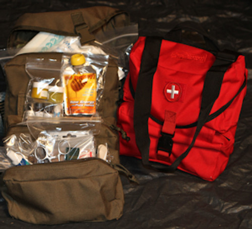 Family Survival Medical First Aid Kit with Natural Remedies Included
