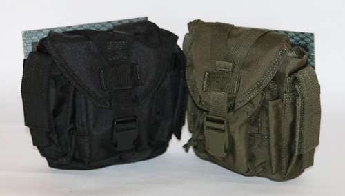 Dump Pouch VooDoo Tactical brand empty bag in Black and OD green