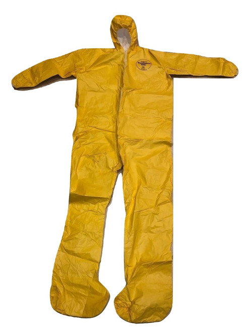 DuPont Yellow Tychem QC 3X Chemical Protection Coveralls