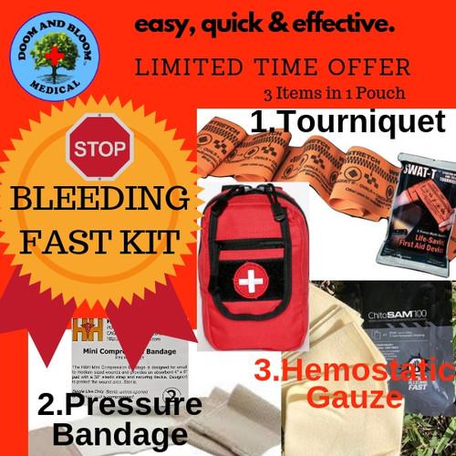 Stop Bleeding Kit Mini, Easy, Quick and Effective